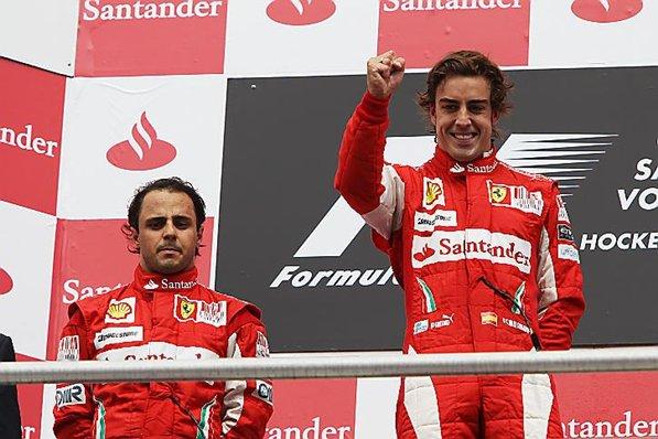 Mais uma vea massa é prejudicado pela Ferrari crédito: www.formula1.com)